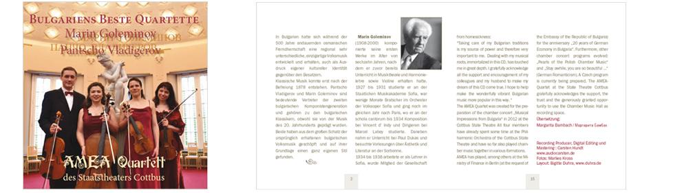 CD / Satz und Layout von Booklet, Inlaycard, Label … B. Duhra