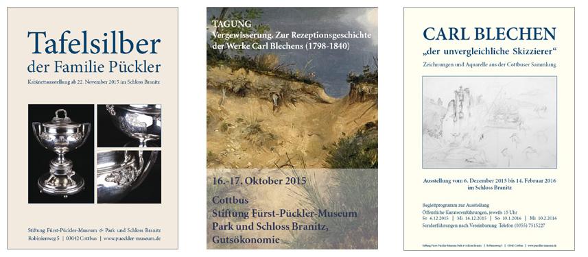 Plakatgestaltung für Stiftung Fürst-Pückler-Museum Park und Schloss Branitz